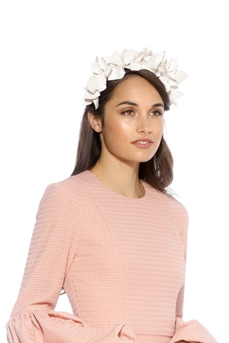 Olga Berg - Mae Floral Headband - White - Model Side
