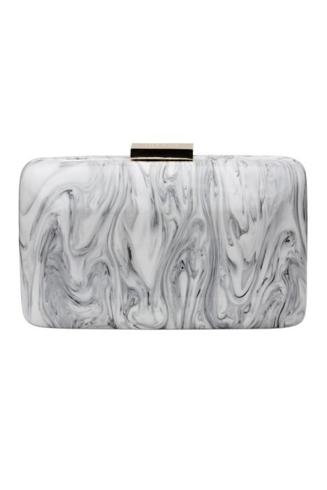 Olga Berg - Marbellous Swirly Acrylic Pod - White - Front