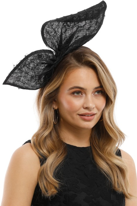 Olga Berg - Monique Lace Bow - Black - Model