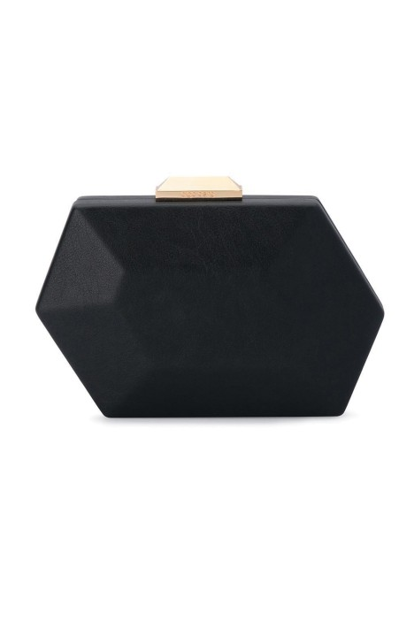Olga Berg - Neva Assymetrical Faceted Pod - Black - Front