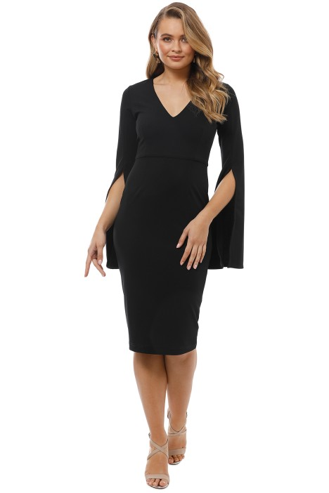 Pasduchas - Amaryllis Midi Dress - Black - Front