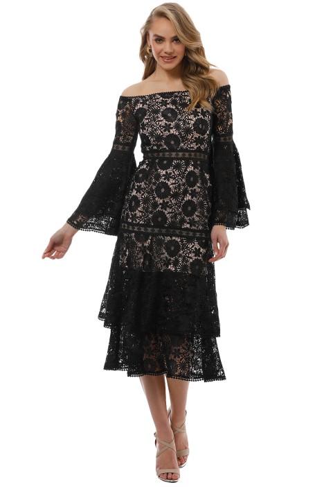 Pasduchas - Duke Midi Dress - Black - Front