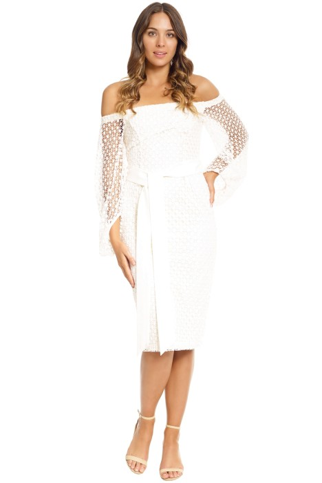 Pasduchas - Floozy Sleeve Midi Dress - White - Front