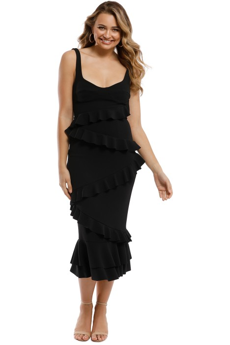 Pasduchas - Matisse Midi Dress - Black - Front