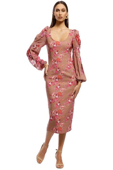 Pasduchas - Nightcap Scoop Midi Dress - Blush - Back