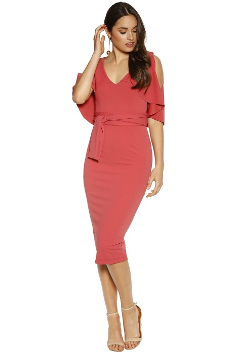Pasduchas - Tuscan Midi Dress - Watermelon - Front