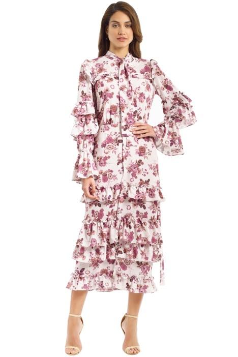 Pasduchas - Valencia Midi Dress - Blush - Front