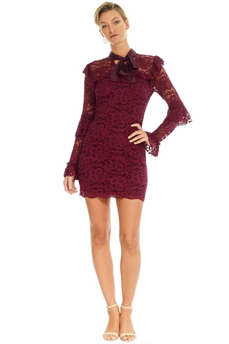 Pasduchas - Winsome Dress - Red Wine - Front