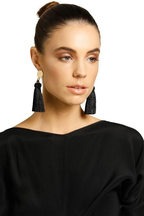 Peter Lang-Drama Earrings-Black-Product