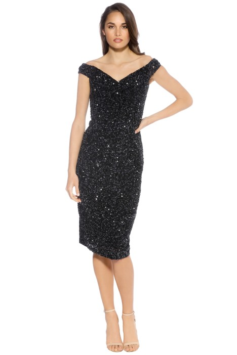 Rachel Gilbert - Essi Dress - Black -  Front