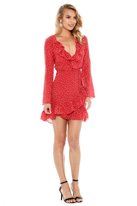 Diane Dress In Red Star By Realisation For Hire Glamcorner