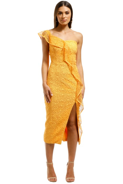Rebecca-Vallance-Baha-Strapless-Midi-Dress-Yellow-Front