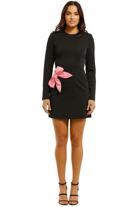 Rebecca-Vallance-Winslow-LS-Mini-Dress-Black-Front