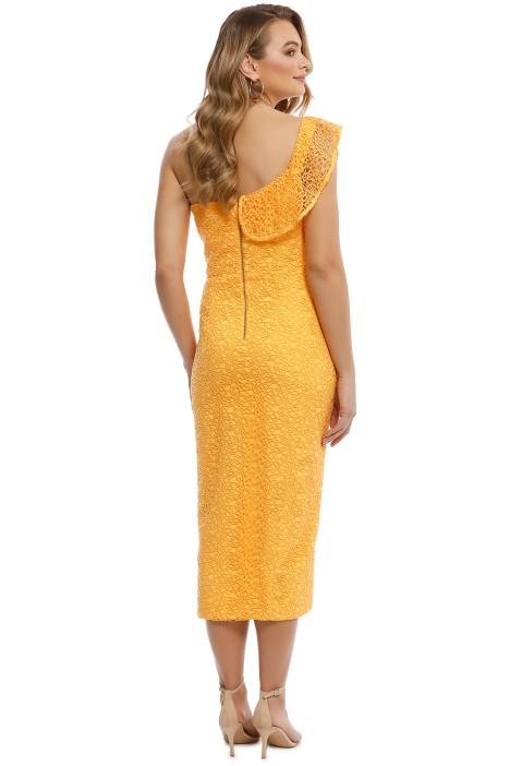 128c17aa60db Rebecca Vallance - Baha Strapless Midi Dress - Yellow - Back
