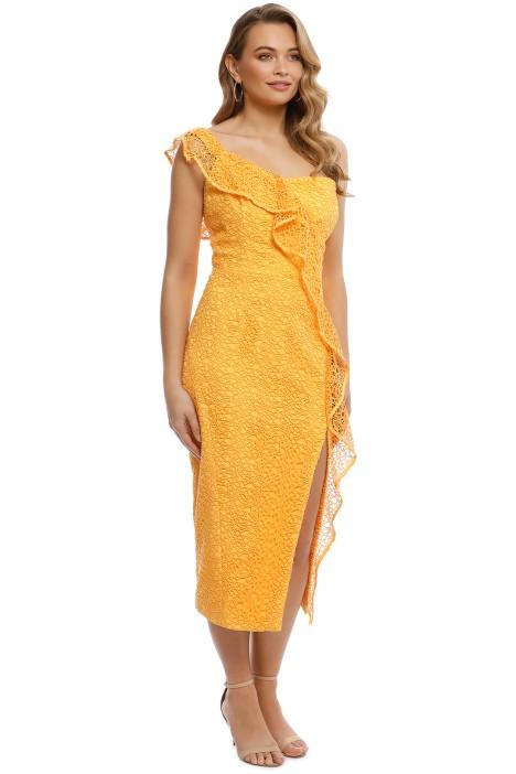 a5293cee73b3 Rebecca Vallance - Baha Strapless Midi Dress - Yellow - Side