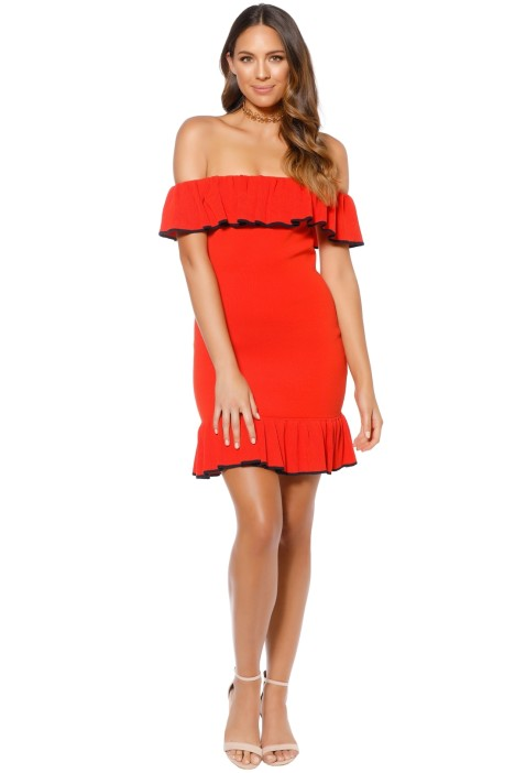 Rebecca Vallance - Capri Mini Dress - Orange - Front