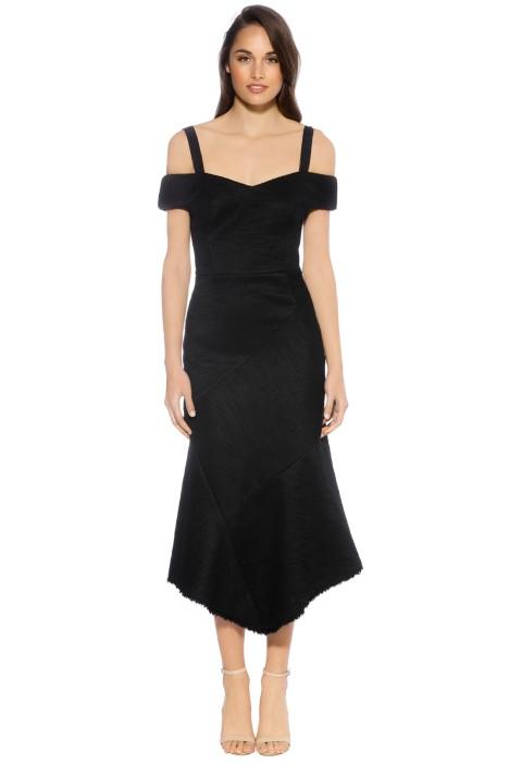 Rebecca Vallance - Cardinale Off Shoulder Dress - Black -  Front