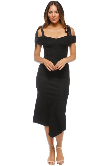 Rebecca Vallance - Cardinale Off Shoulder Dress - Black - Front