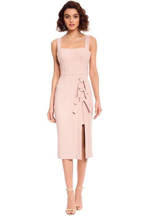 Rebecca Vallance - Celestina Tie Dress - Nude - Front