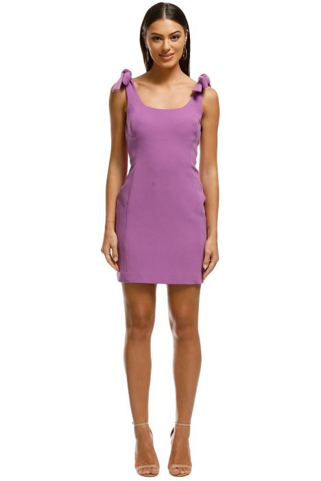 Rebecca Vallance - Dahlia Mini Dress - Purple - Front