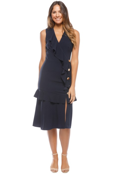 Rebecca Vallance - Femmes Midi Dress - Navy - Front
