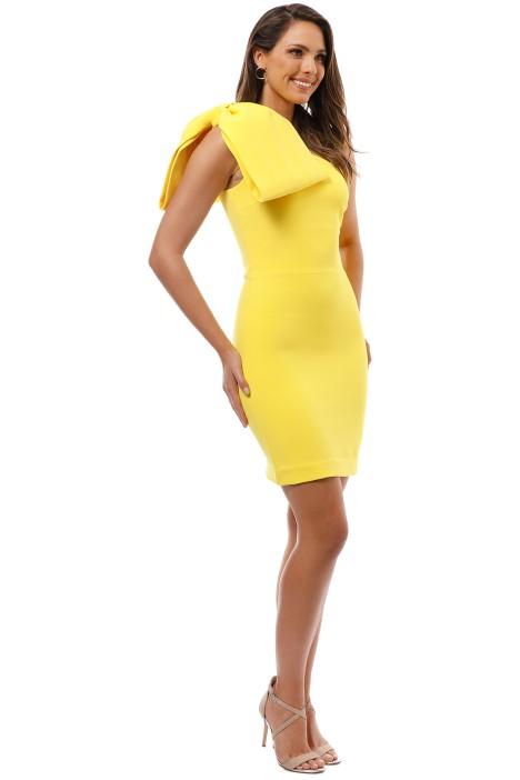 b882d4319ebd Rebecca Vallance - Hamptons Bow Mini Dress - Yellow - Side