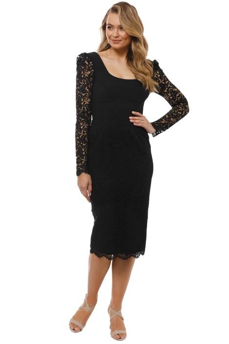 Rebecca Vallance - Le Saint Lace Dress - Black - Front