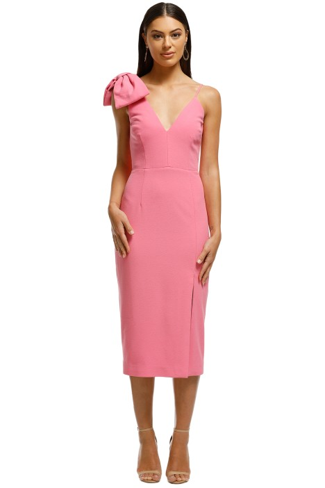 Rebecca Vallance - Love Bow Dress - Pink - Front