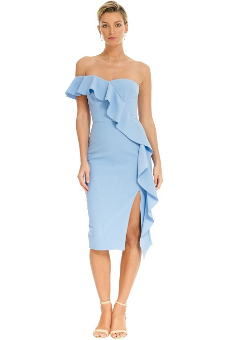 Rebecca Vallance - Monte Carlo Strapless Midi Dress - Blue - Front