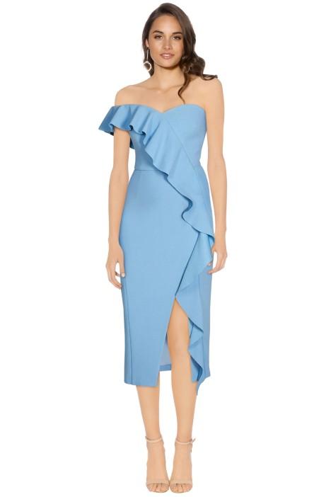 Rebecca Vallance - Monte Carlo Strapless Midi Dress - Front