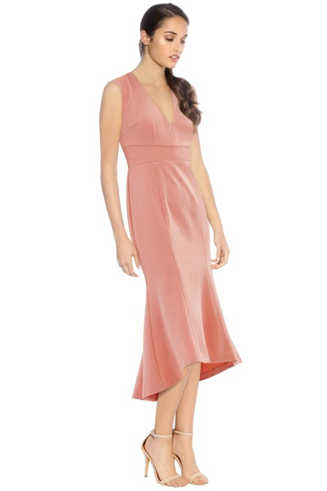Rebecca Vallance -  Ravena Dress Lace Up Back - Blush Pink - Side
