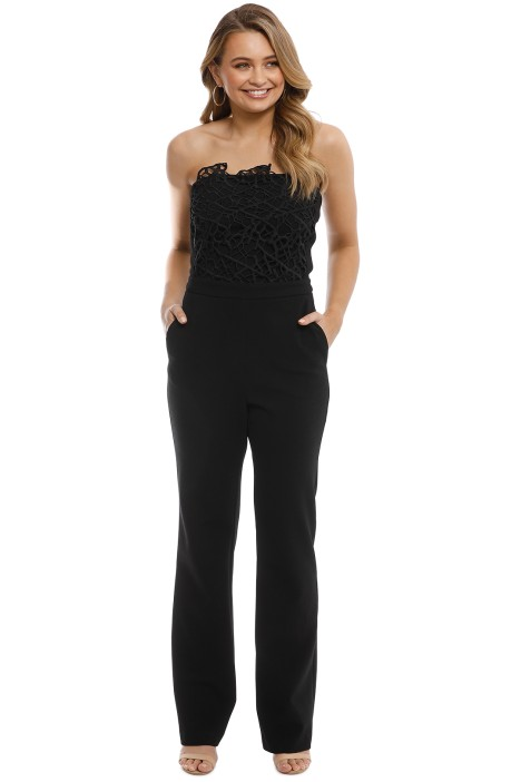 Rebecca Vallance - Sophia Lace Jumpsuit - Front