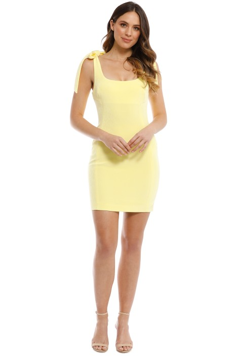 a027837550c Zinnia Mini Dress in Yellow by Rebecca Vallance for Rent