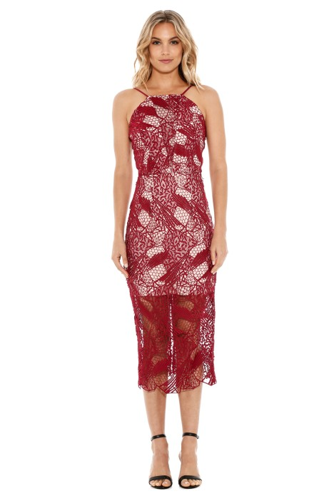 Rodeo Show - Gwendolyn Dress - Cranberry - Front