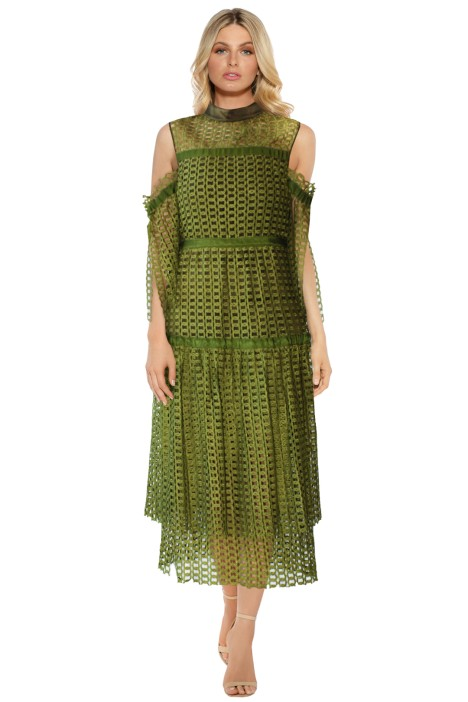 Romance Was Born - Link Garden Dress - Khaki - Front