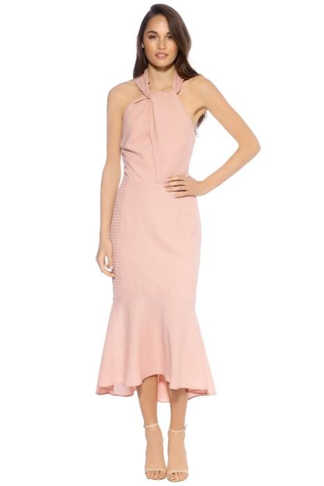 Rebecca Vallance - Amnrosia Halter Midi Dress - Clay - Front