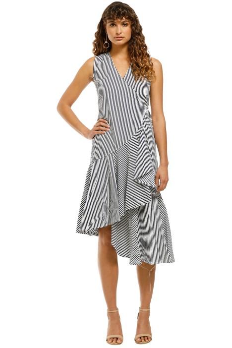Rue-Stiic-Miller-Wrap-Dress-Navy-Stripe-Front