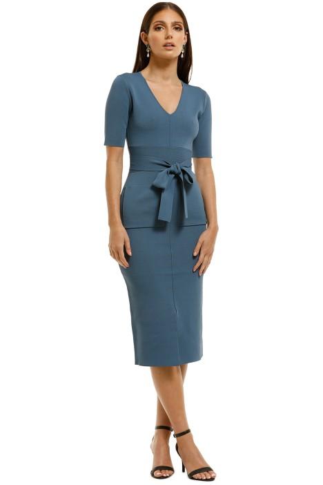 Saba-Amara-Milano-Pencil-Dress-Blue-Front
