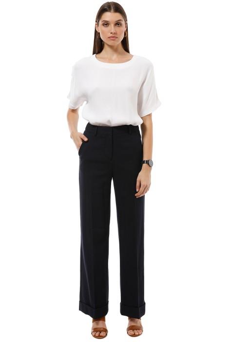 Saba - Celine Wide Leg Pant - Black - Front