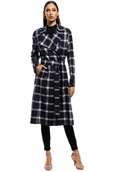 Saints the Label - Indiana Trench Coat - Navy - Front