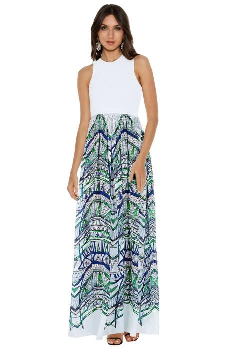 Sass Bide - The Sun Strech Maxi Print Dress - Blue - Front