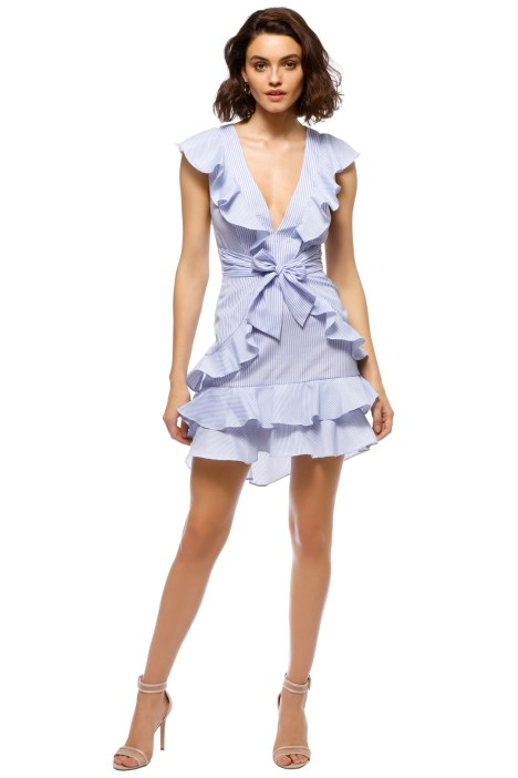 Saylor - Aria Dress - Blue White - Front