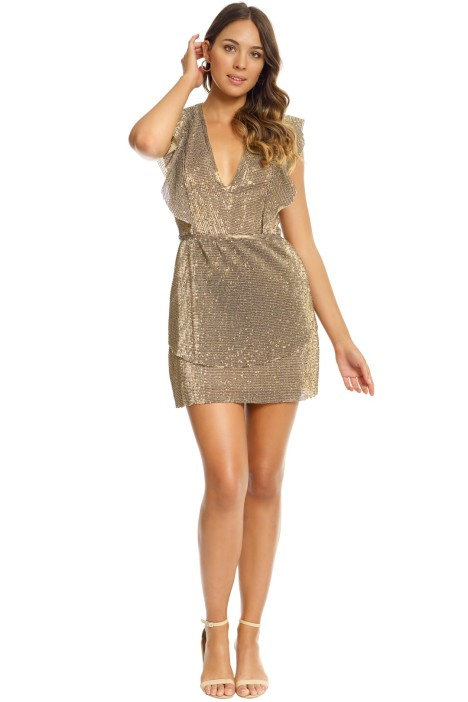 Saylor - Zaylee Dress - Gold - Front