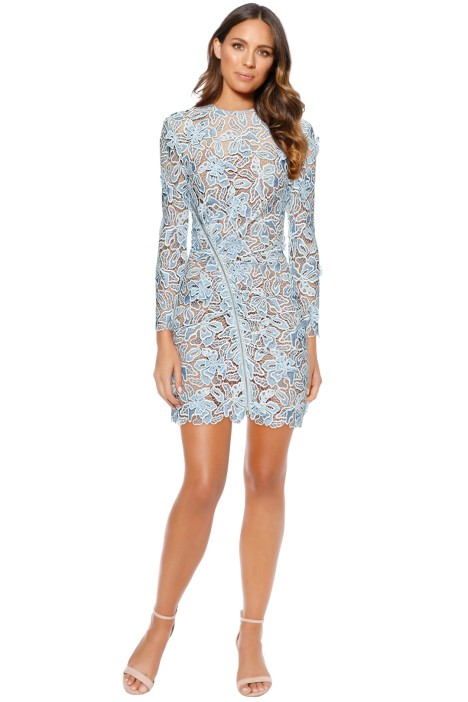 Self Portrait - 3D Lily Mini Dress - Blue - Front