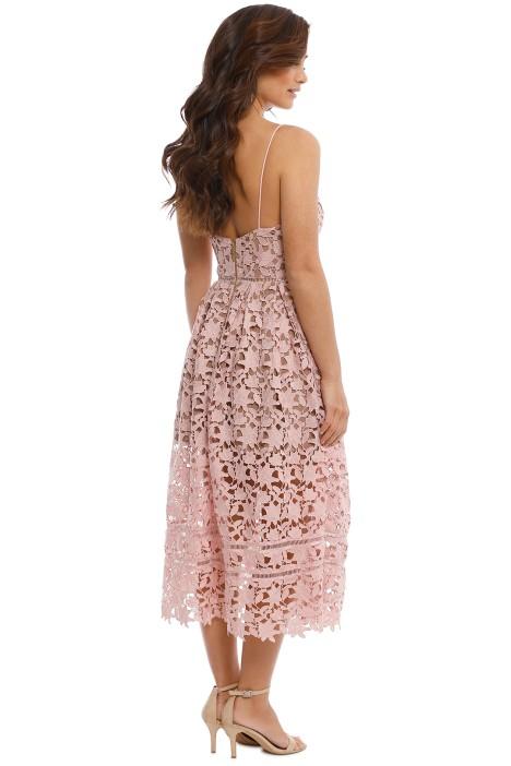 0dd07e608ce2 Azalea Lace Midi Dress in Pale Pink by Self Portrait for Rent
