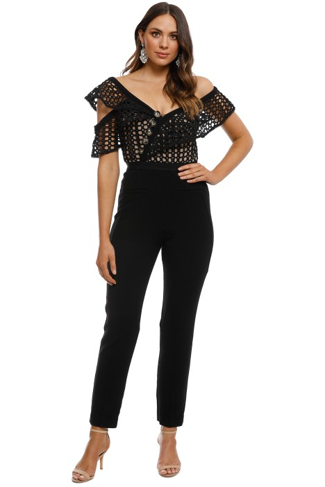 029252a146b Lace Frill Jumpsuit by Self Portrait for Hire