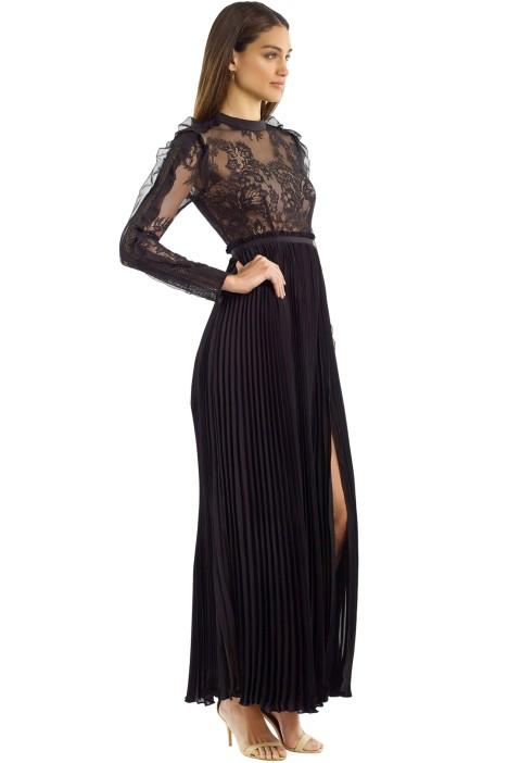 d899137307e0b Self Portrait - Moni Lace Pleated Dress - Black - Side