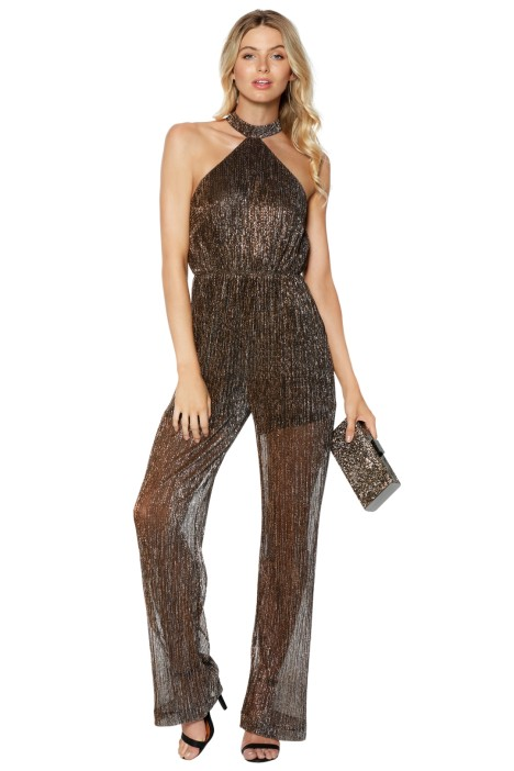 a514e1faf488 Gold Dust Halter Jumpsuit by Shakuhachi for Rent
