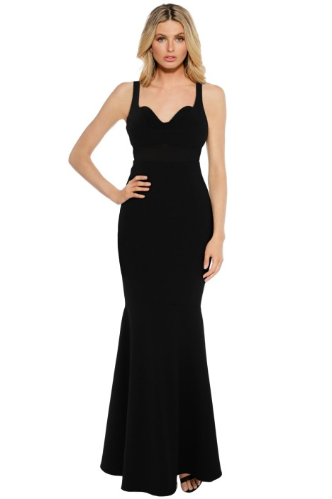 Sheike - Madrid Maxi Dress - Black - Front