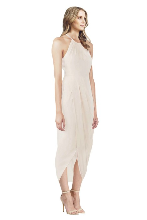 0bfaa582840 Cream Core High Neck Ruched Dress by Shona Joy for Hire